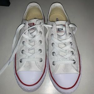 White & Red Converse